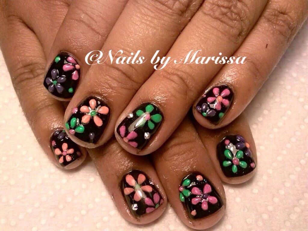 Gel overlay kids nails | Nails by Marissa | Pinterest