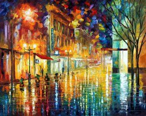 I need a Leonid Afremov painting. Such beautiful colors!