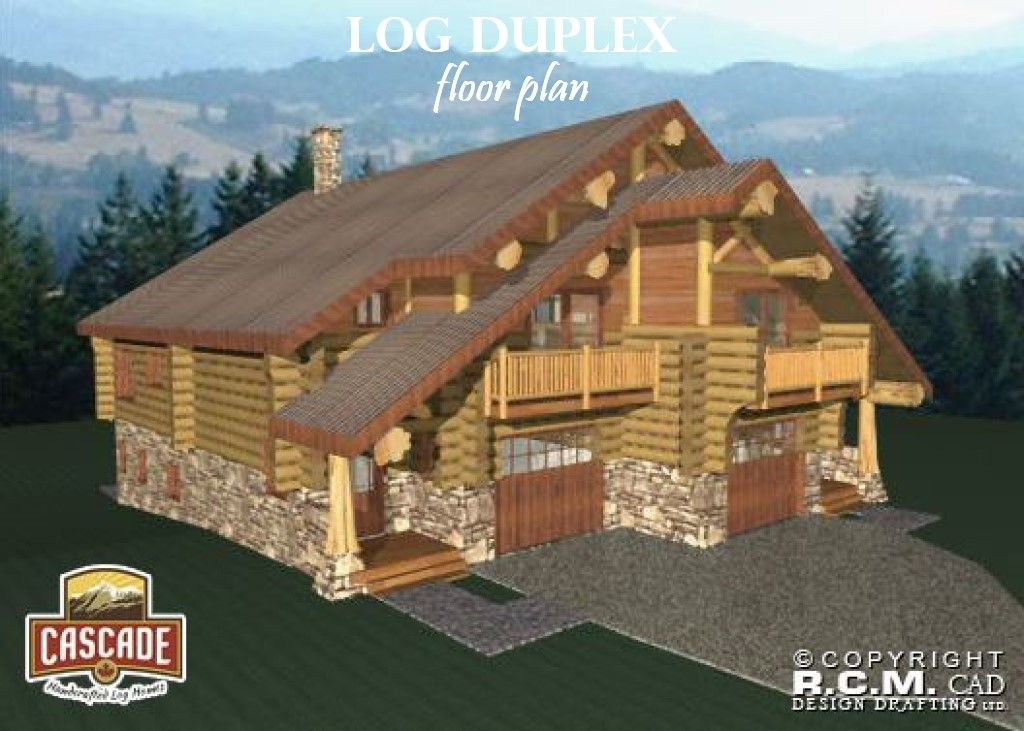 Log Home Floor Plans 3000 5000 Sq Ft Cascade Handcrafted Log Homes Log Home Floor Plans Floor Plans Duplex Floor Plans