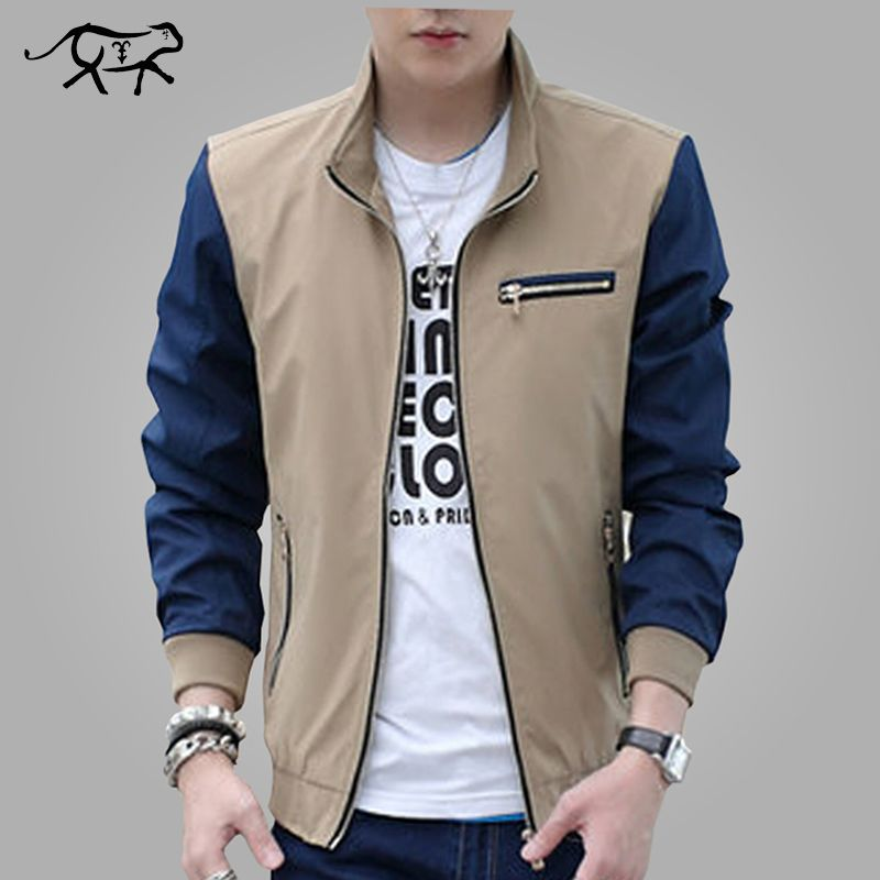 cad48326 Spring New Arrival Fashion Jacket Men Trend Patchwork Korean Slim Fit Mens  Designer Clothes Solid Men