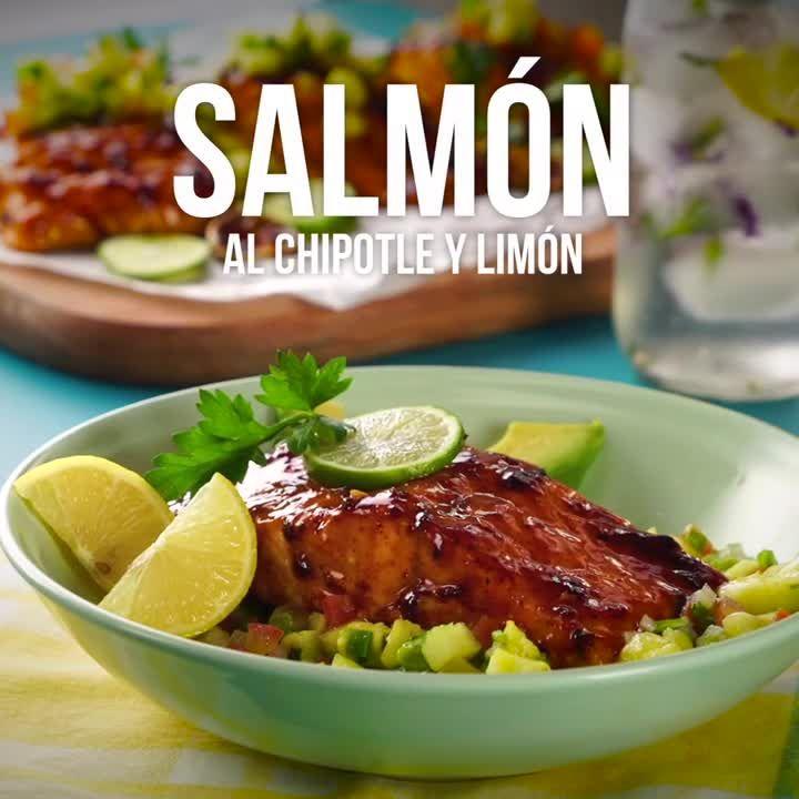 Salmón al Chipotle y Limón