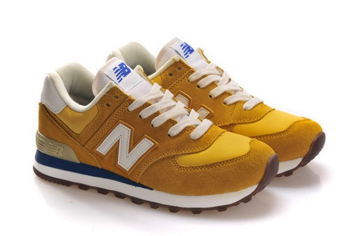 new balance sneakers dames geel