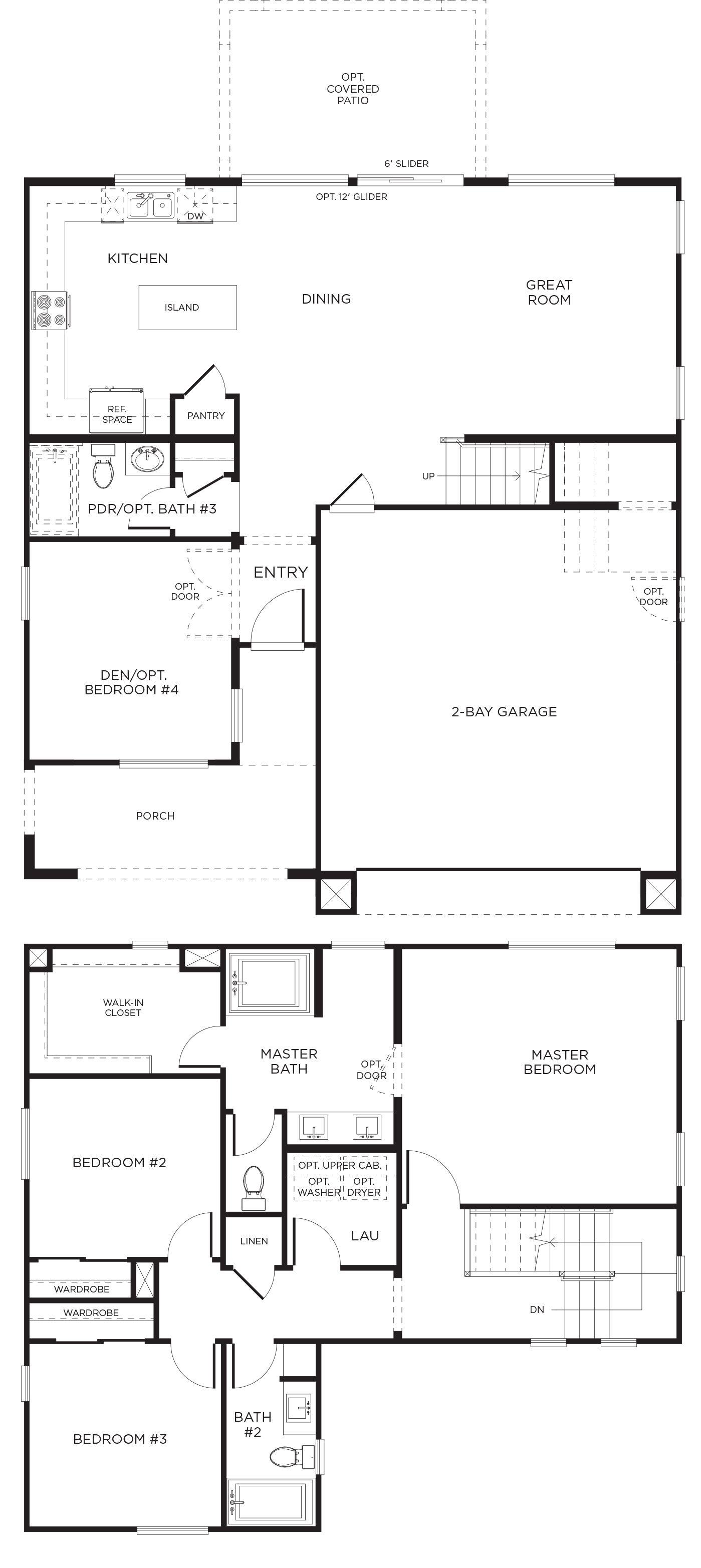 Elara Plan 2b Pardee Homes Floor Plans House Floor Plans