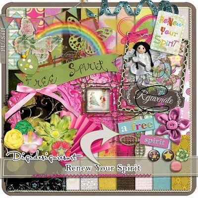 Printable Scrapbooking Megakit Renew Your Spirit (PU/S4H) by Digidesignresort