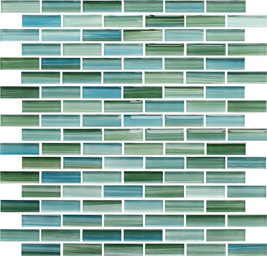 Rip Curl Green and Blue Hand Painted Glass Subway Mosaic Tiles | Rip ...
