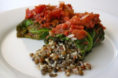 Lentil & Rice Cabbage Rolls