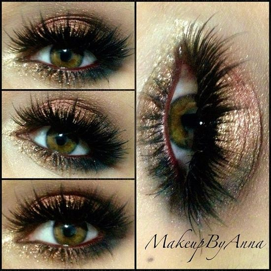 How to make Brown and bronze smoky eye effect? Click the pic to know
