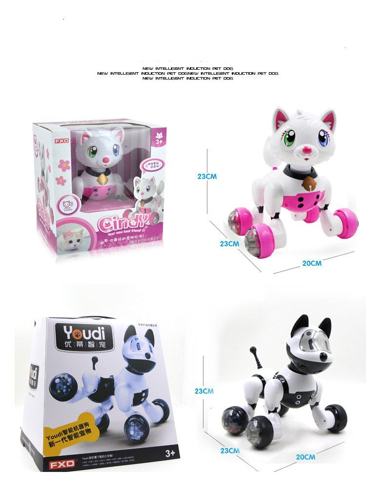 Interactive Dog Toys Exercise New Birthday Gift walking toy zoomer dog Sound Control Smart interactive Dog Electronic Pet Educational Children Toy Robot Dog | www.qualityonlinestores.com