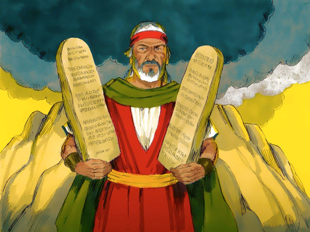 Moses Receives The Ten Commandments Powerpoint