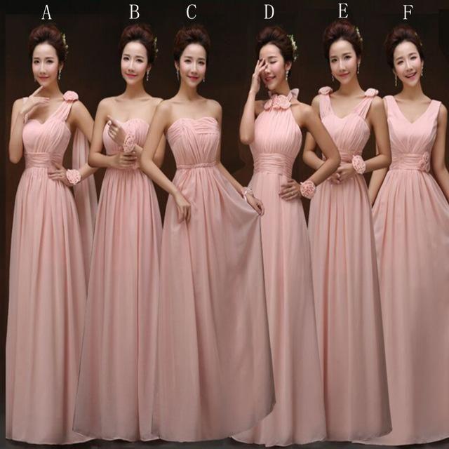 Blush Pink Bridesmaid Gown 7a2f5c2a9fd9