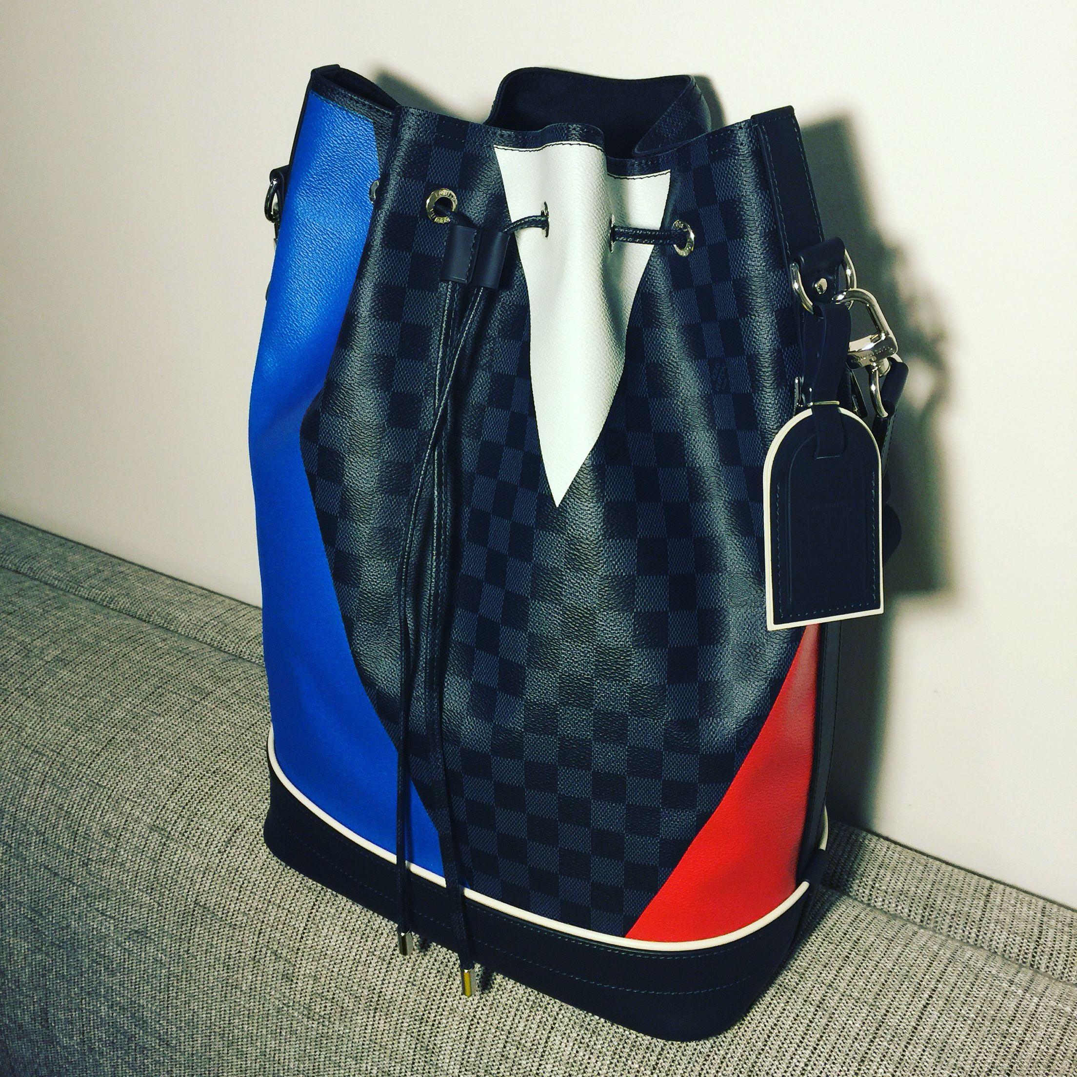 a81fbe695d8a Noé Marin bag in Damier Cobalt Regatta canvas for America Cup 2016 by Louis  Vuitton.