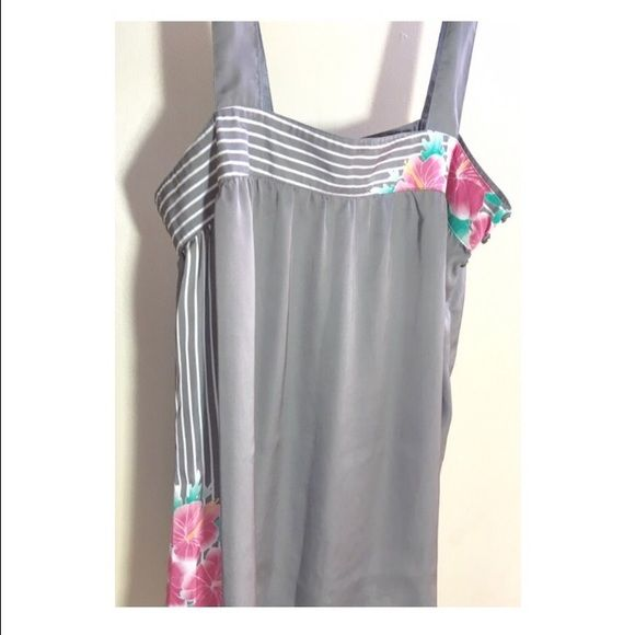 Gray Tank Cute, light, Gray Tank with pink hibiscus.  Still plenty of wear  O'Neill Tops Tank Tops