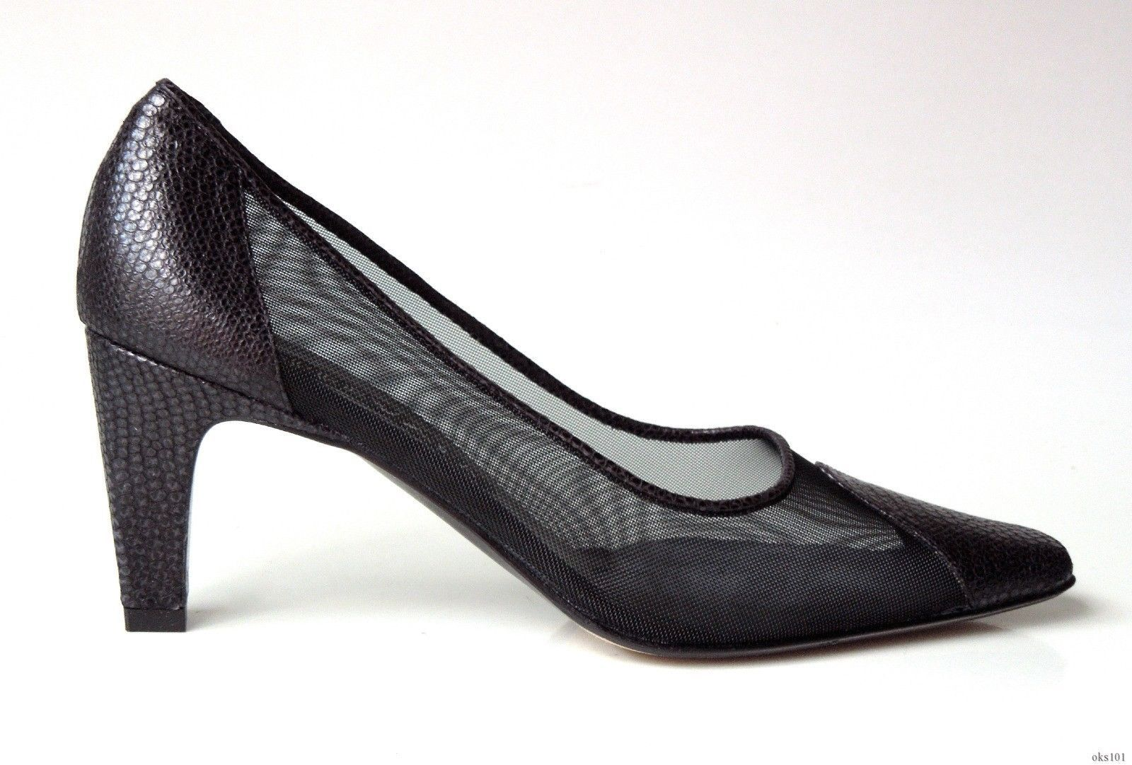 102294aee5d71 new $350 PREVATA 'Salute' black leather mesh shoes Italy - classic ...
