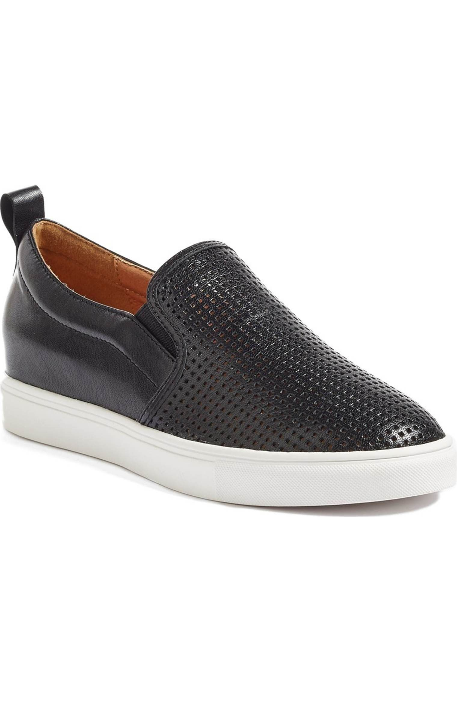 Caslon Eden Perforated Slip On Sneaker Women Nordstrom Slip On Sneaker Black Slip On Sneakers Black Sneakers [ 2332 x 1520 Pixel ]