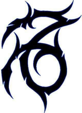 92f6d8754903c Awesome Tribal Capricorn Tattoo Design | Sabloane | Șabloane