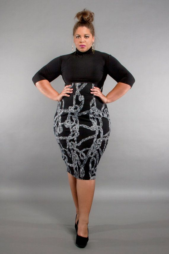 29bdf72578 Plus Size Skirts, Plus Size Outfits, Plus Size Pencil Skirt, High Waisted  Pencil