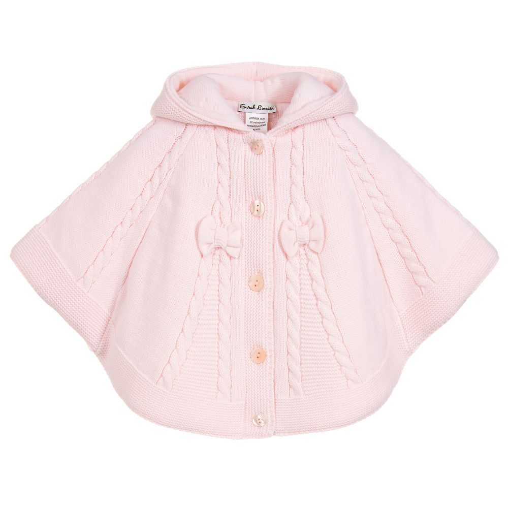 c63dd4f16 Girls Pink Knitted Cape