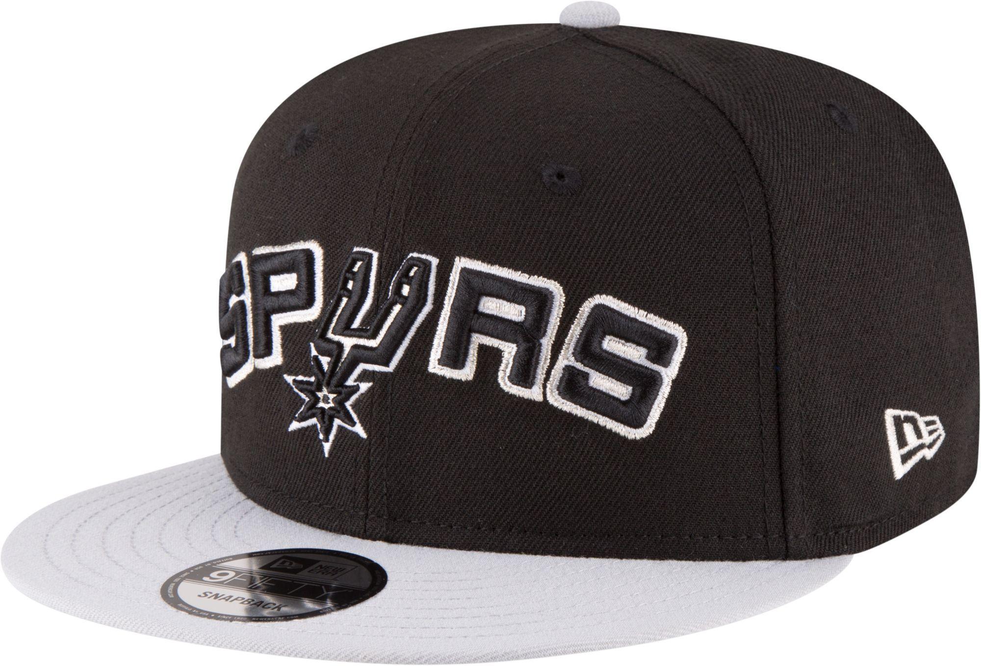 size 40 5840f 73a03 New Era Men s San Antonio Spurs 9Fifty Adjustable Snapback Hat, Team