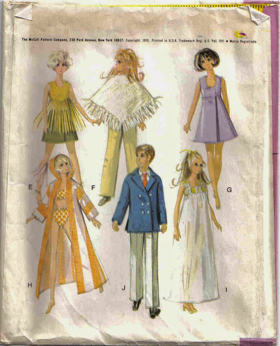 Vintage McCalls 2580 Sewing Pattern to make ten 1970\'s Outfits for ...