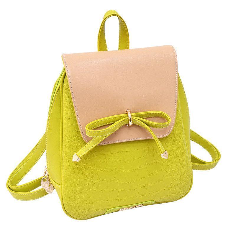 Women Backpacks 2016 New Designer Leather Backpack Bow Shoulder Bag Girls Student School Bags Female Travel Bolos Mochilas