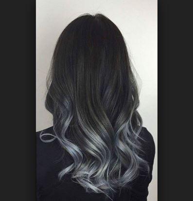Koyu Gri Ombre Saç Renklerine Dönüş Saç Renkleri Ve Saç Modelleri