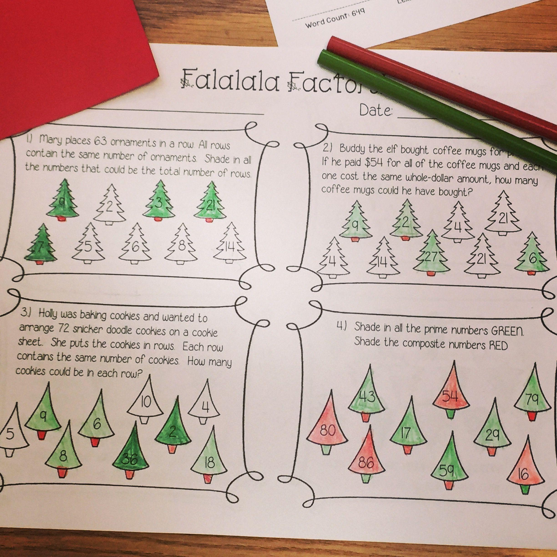Falalala Factors Amp Merry Multiples A Fun And Festive Way