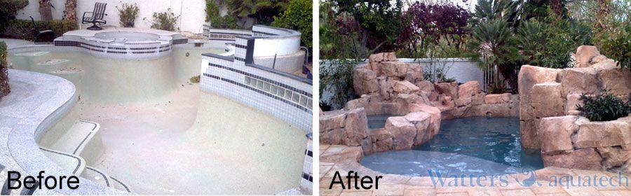 Complete renovation  www.wattersaquatech.com, www.houzz.com/pro/dustinh2o/watters-aquatech-pools-spas, http://www.facebook.com/wattersaquatech