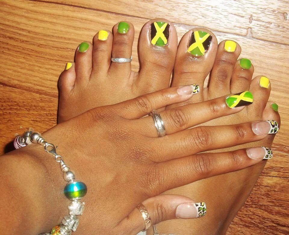 Jamaica nails. - Jamaican Inspired Nail Art Nails Pinterest Jamaica Nails