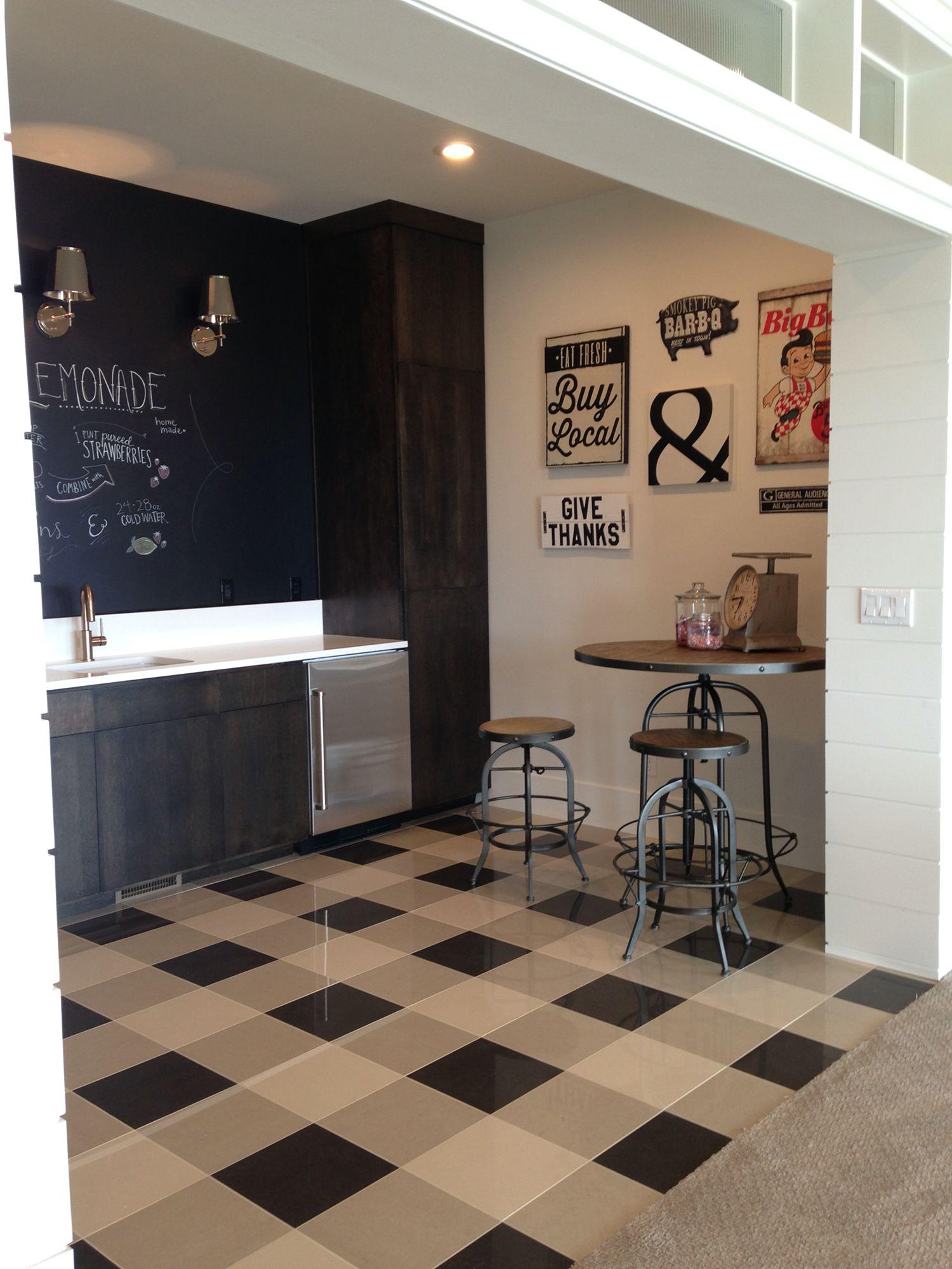 Buffalo check floor interior design- Melissa Walker