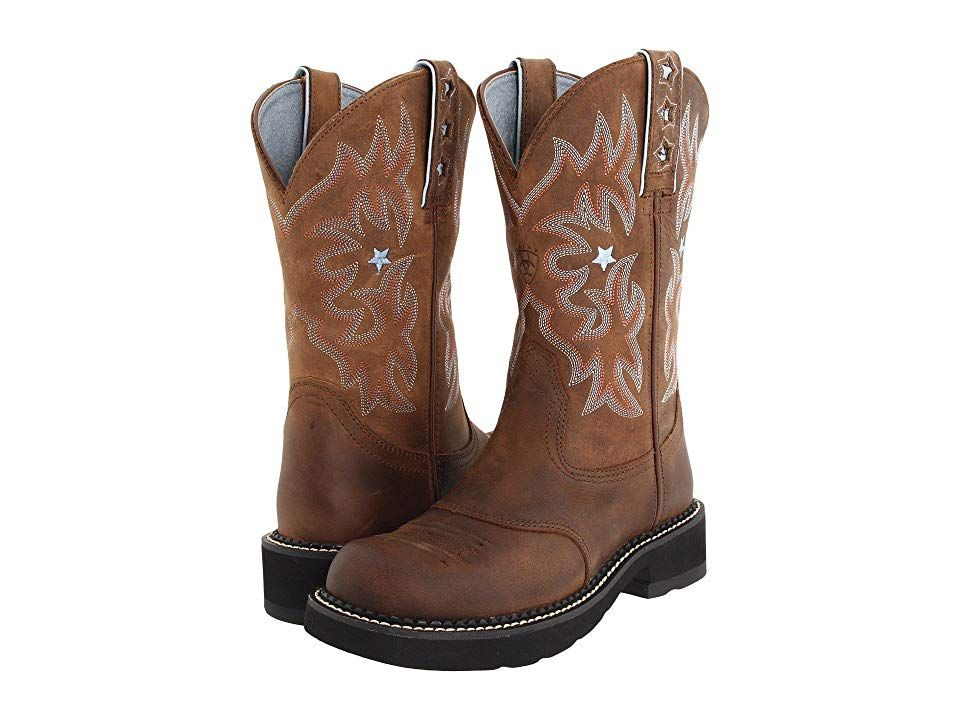 e217bf9e58b Ariat Probaby (Driftwood Brown) Cowboy Boots. Ariat styling in a ...