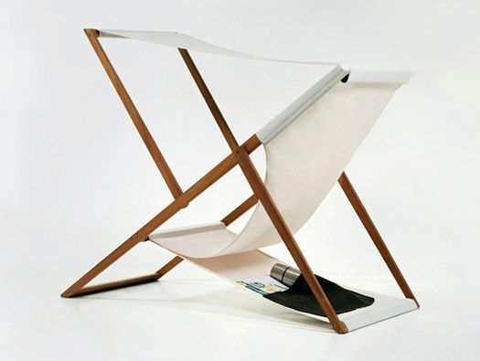 XZ BEACH CHAIR BY NUMEN A Traditional Deck Chair Extended With A Removable  Sunshade.