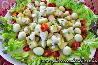 Saborosa e nutritiva sugestão de #almoço! A Salada de Batata Doce com Molho de Gorgonzola, é simples de preparar e refrescante!  #Receita aqui: http://zip.net/bynWLj