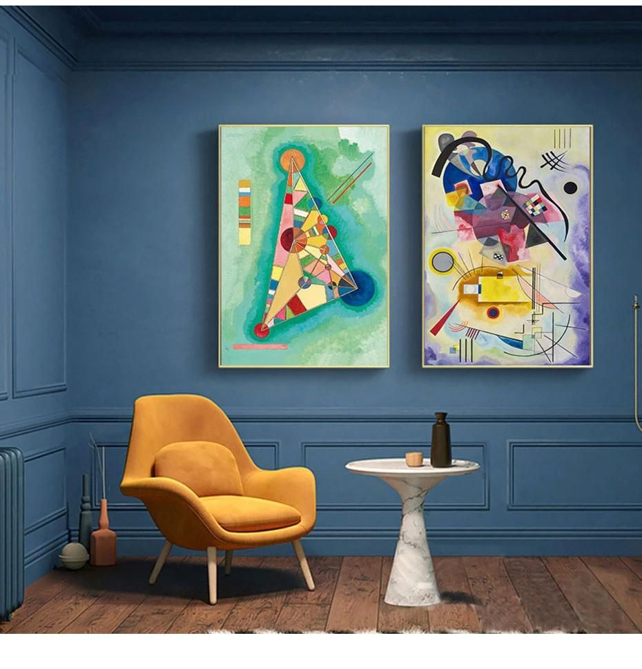 Wassily Kandinsky Fine Art Giclee Canvas Yellow Red Blue Art Print Poster