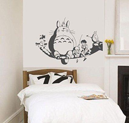 My Neighbour Totoro Wall Decor Decal Baby Kidu0027s Room Sticker Nursery Wall  Art Decor Mural (grey)