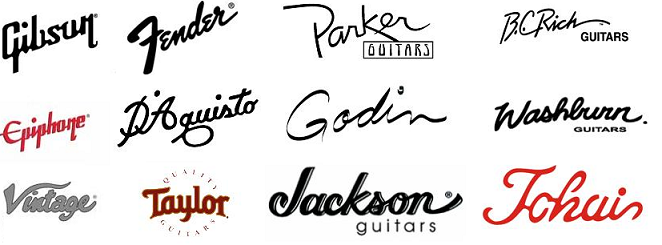 Collection Of Handwritten Fonts Used In Logos Guitar Logo Handwritten Fonts Logos