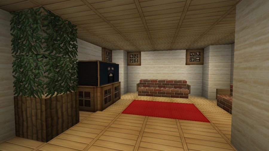 20 Living Room Ideas Designed In Minecraft Minecraft House Designs Living Room Interior Beautiful Living Rooms