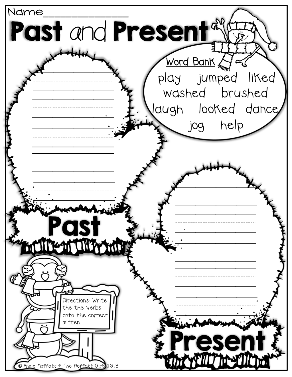 past and present verbs 1st grade activities first grade Bilingual Job Resume past and present verbs