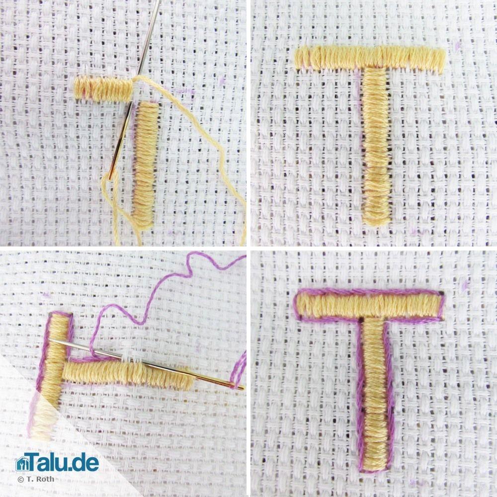 Buchstaben sticken - so einfach geht´s! | Stickbilder, Handtücher ...