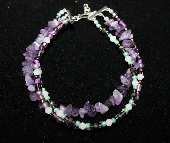 Hey, I found this really awesome Etsy listing at https://www.etsy.com/listing/197412688/purple-and-teal-bracelet