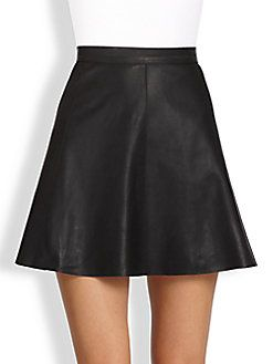 Mackage - Leather A-Line Skirt