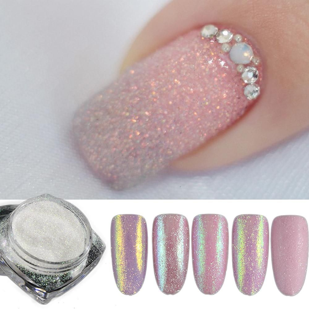 5pcs/set Holographic Nail Glitter Powder Shining Sugar | Nails ...