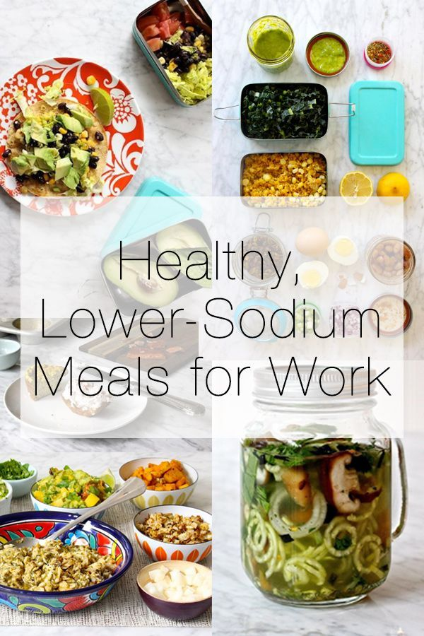 Sodium Girl helps make healthy meals at work images