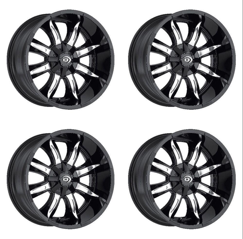 Set 4 17 Vision 423 Manic Black Machined Wheels 17x9 8x170 12mm Lifted 6 Lug 886821158348 Ebay In 2020 Truck Rims Wheel Wheel Rims