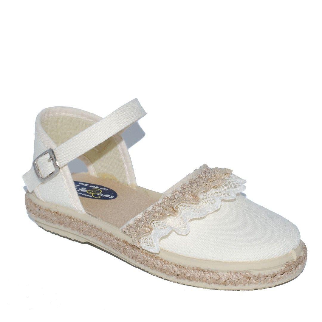 a8c37fec7d2 Sandalia para niña piqué beige de Vul-Peques | Calzado Infantil ...