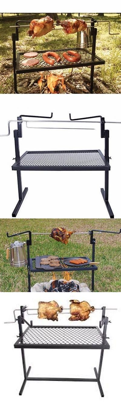 Camping Cookware 87141 Outdoor Campfire Cooking Grill Rotisserie Equipment Kitchen Patio Deck BUY IT