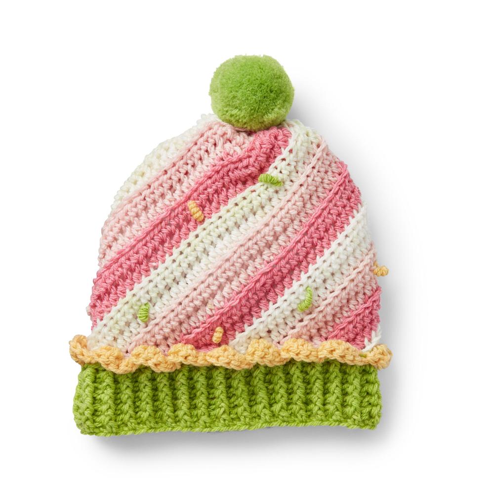 Caron Sweet Swirl Crochet Cupcake Hat, 6-12 mos Pattern ...