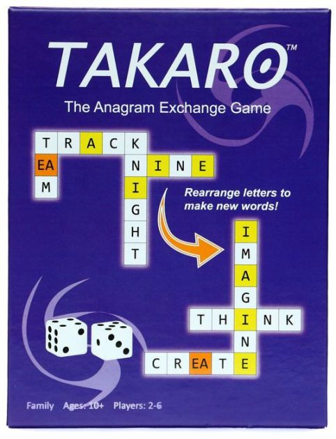 TAKARO is the fast-paced anagram exchange game where players earn points by using game tiles to spell words and then exchange those…