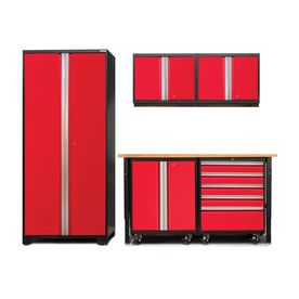 Newage Products Pro W X H Jet Black Frames With Deep Red Doors Steel Garage Storage System 52348  sc 1 st  Pinterest & Newage Products Pro 3.0 102-In W X 85-In H Jet Black Frames With ...