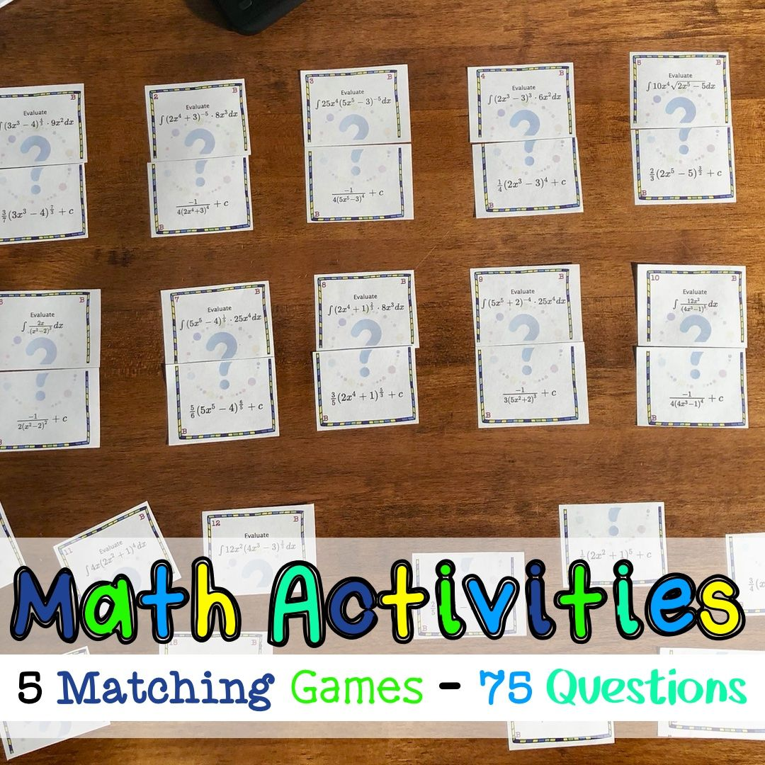 These Matching Math Games Are Perfect Activities For Your