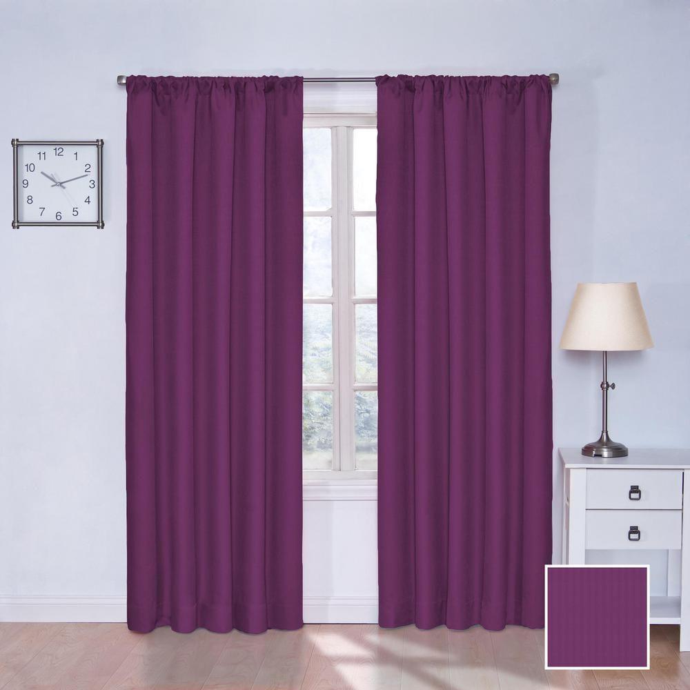 Eclipse Kids Microfiber Blackout Window Curtain Panel In Light Purple 42 In W X 63 In L 13303042x063lpr Panel Curtains Curtains Kids Curtains